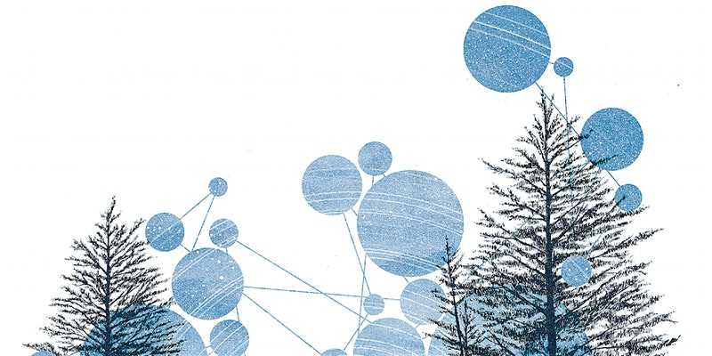 trees and connected dots