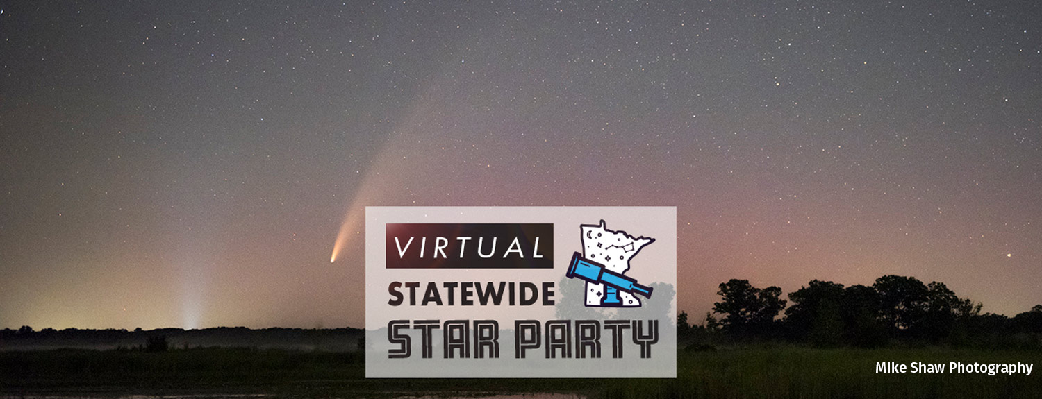 Virtual Statewide Star Party, photo of Comet NEOWISE