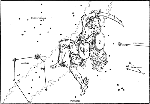 Drawing and star placement of perseus