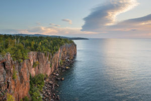 A photo of Lake Superior and Palisade Head, Tettegouche State Park