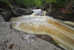The upper Manitou River on the North Shore of Lake Superior flowing