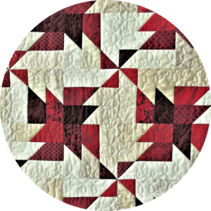 Geometric patterned quilt