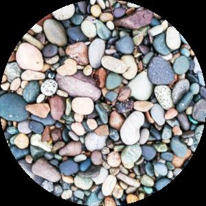 Assortment of small rocks