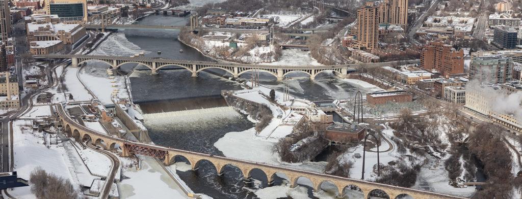 Saint Anthony Falls in 2020