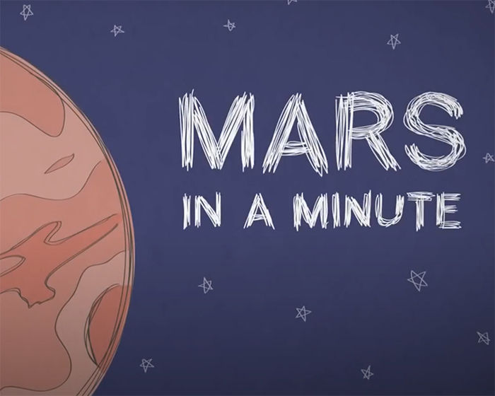 Mars in a Minute title illustration