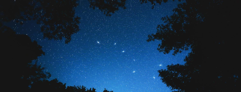 Big dipper constellation in a dark blue sky