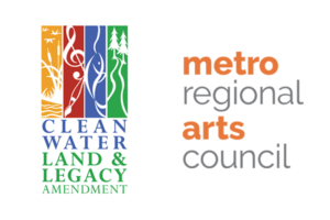 two logos with text: clean water land legacy AND metro regional arts council