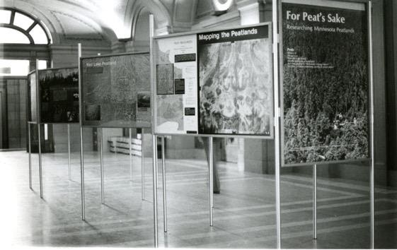 """Panels with the text, """"For Peat's Sake,"""" part of a traveling exhibit"""