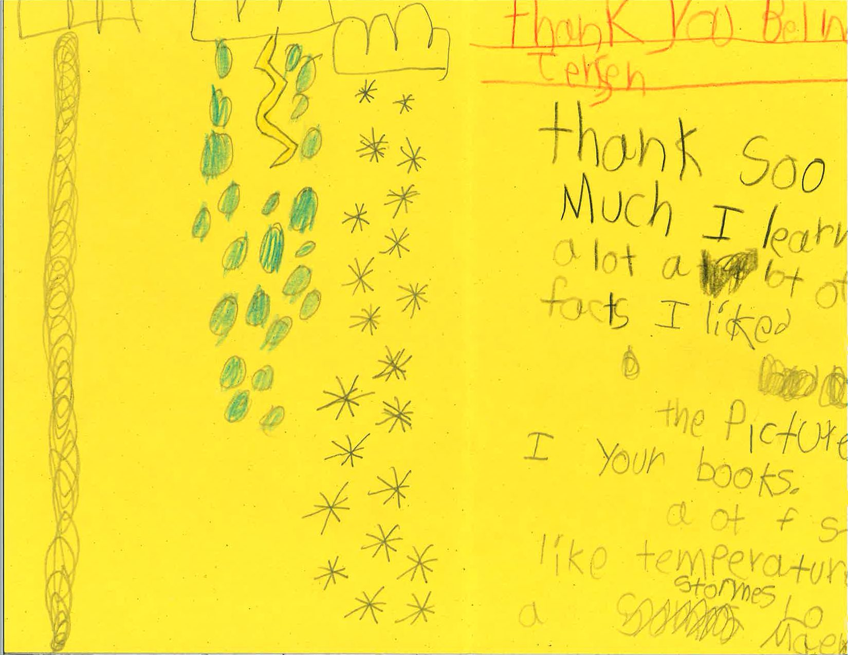 Child's Thank you card